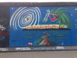 Berlin Wall graffiti art